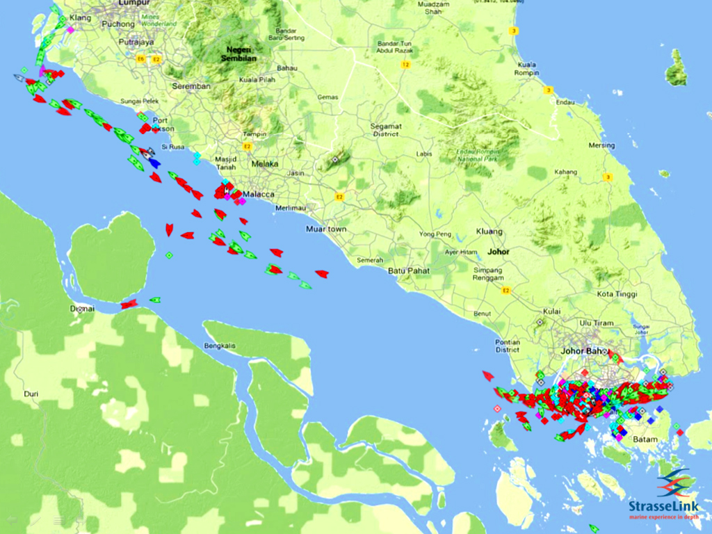 Location of the Malacca Strait on the map. Where is the Strait of Malacca 37